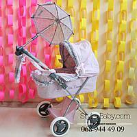 Игрушечная коляска для куклы: аксессуары сумочка и зонтик