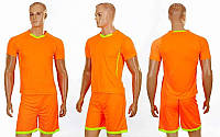 Футбольная форма подростковая Grapple CO-7055B-OR (PL, р-р 120-150см, оранж-салат, шорты оранж)