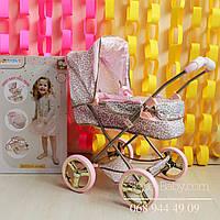 Детская коляска для куклы Baby Born нежно розовая