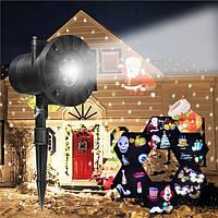 6 Шаблоны Лазер проектор LED Stage Light Moving Landscape Рождественский Halloween Party Decor