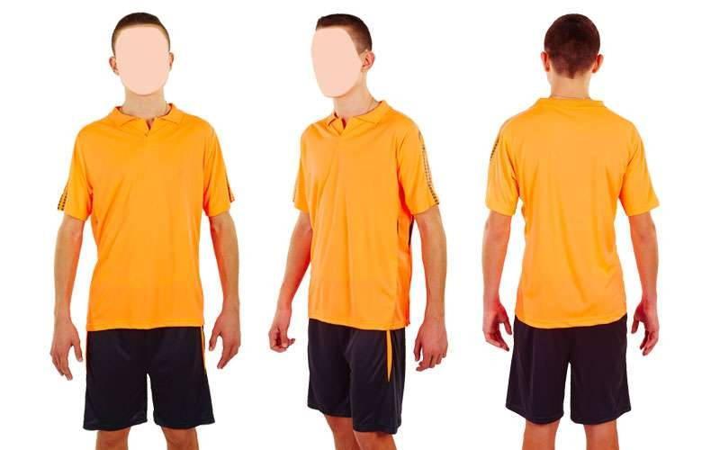 Футбольна форма підліткова New game CO-4807-P (PL, р-р M-XL, кораловий, шорти чорні)