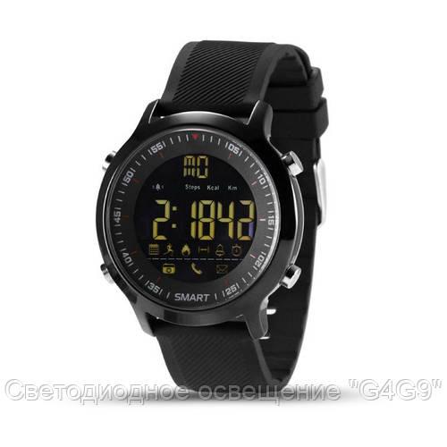 Умные водонепроницаемые смарт-часы EX18 Black