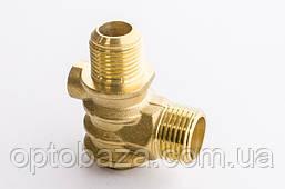 Обратный клапан Н8 (резьба наружная/внутренняя) большой (медный) для компрессора, фото 3