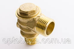 Обратный клапан Н8 (резьба наружная/внутренняя) большой (медный) для компрессора, фото 2