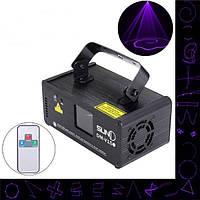 18W DMX Mini UV Лазер Beam Проектор Пульт дистанционного управления и голосового управления LED Сценический свет для DJ-бара KTV Party