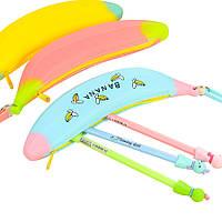 WAMPC-10MiniСиликоновыйКарандашЧехол Банановый пластиковый карандаш Сумки Детская ручка для детей Сумка Карман для монет на молнии