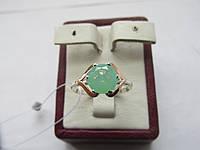 "Кольцо серебро с золотом""Гелиос"", фото 1"