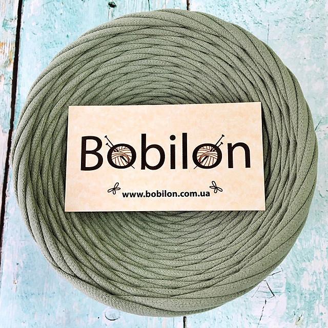 Пряжа трикотажная Бобилон 5-7 мм, цвет Оливковый