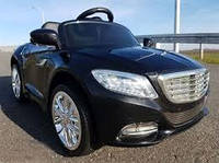Детский электромобиль Мерседес КХ1338 NEW Премиум, резина, кожа, 4 Амортизатора, чёрный, дитячий електромобіль