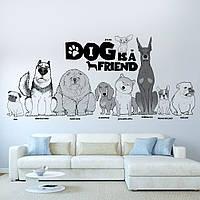 30 * 90 CM Симпатичные собаки стены стикеры фона стены стикеры
