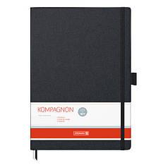 Книга записная А4 Brunnen Компаньон, линия, черная