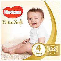 Подгузники Huggies Elite Soft  4 (132шт.) BOX 8-14 (Хаггис Элит Софт)