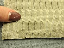 Ткань для сидений автомобиля, цвет темно-бежевый, на поролоне (для центральной части), Германия