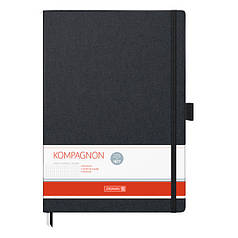 Книга записная А4 Brunnen Компаньон, клетка, черная