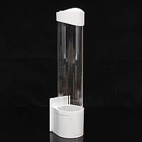 Одноразовая посудомоечная чашка для воды Бумажная чашка Пылезащитный пластиковый держатель Self-Adhesive Mount 50 Cups