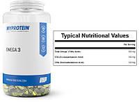Myprotein, Рыбий жир, Омега-3, 1000 мг, 1000 капсул