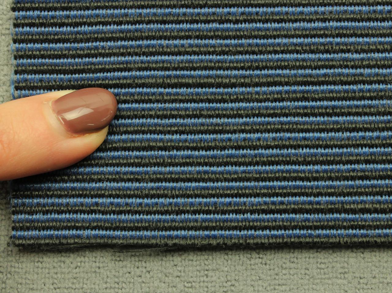 Ткань для сидений автомобиля, цвет черно-синий, на поролоне (для центральной части), Германия