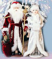 Набор Дед Мороз и Снегурочка под елку 50-53 см, фото 1