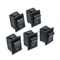 25шт. Черный кнопочный переключатель Mini 6A-10A 110V 250V KCD1-101 2Pin Snap-In On / Off Rocker Switch