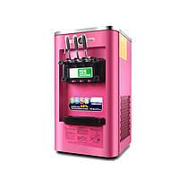 220V Commercial Soft Машина для мороженого Замороженные Йогурт-смесь 3 Вкус 13-16L / H