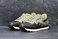 Кроссовки мужские Reebok (бежевые с коричневым), ТОП-реплика, фото 1