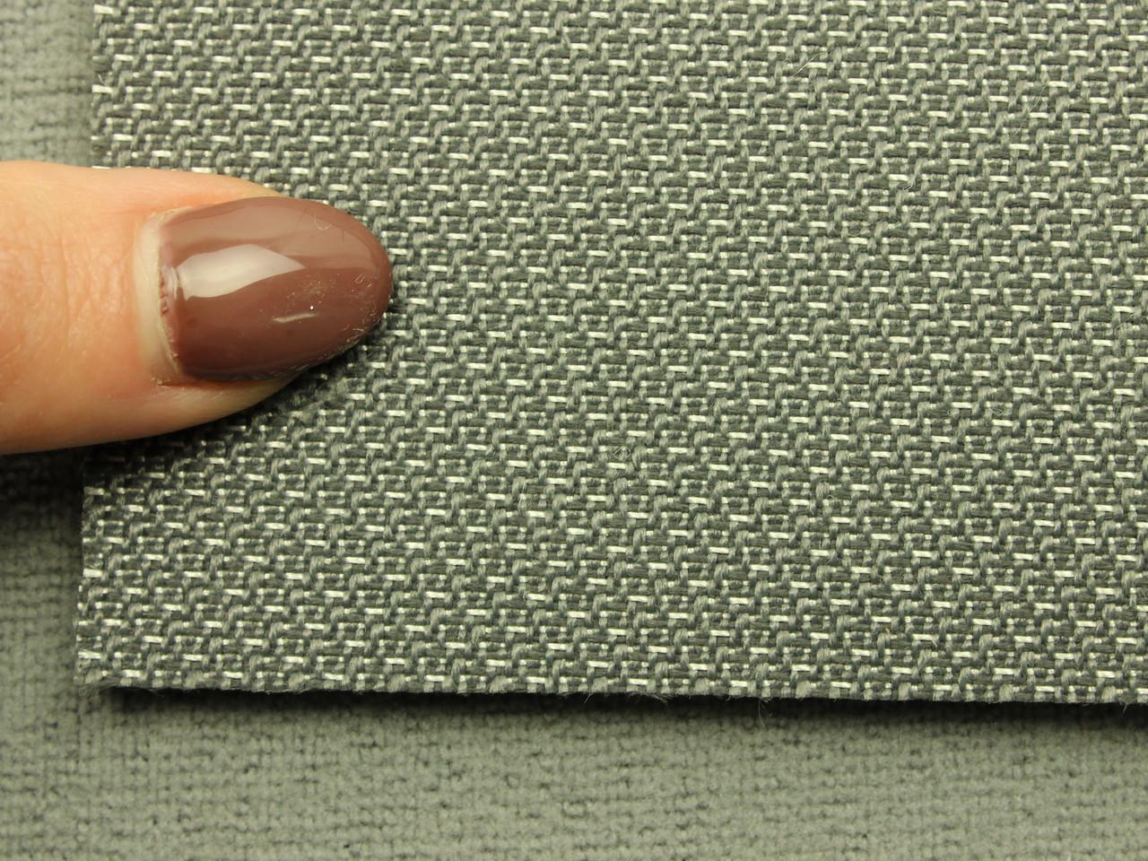 Ткань для сидений автомобиля, цвет серый, на поролоне (для центральной части), Германия