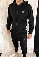 Спортивный костюм Philipp Plein SPORT D2512 черный теплый с капюшоном