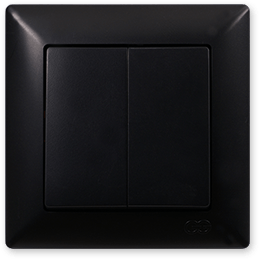Выключатель 2-х клавишный Gunsan Visage Черный