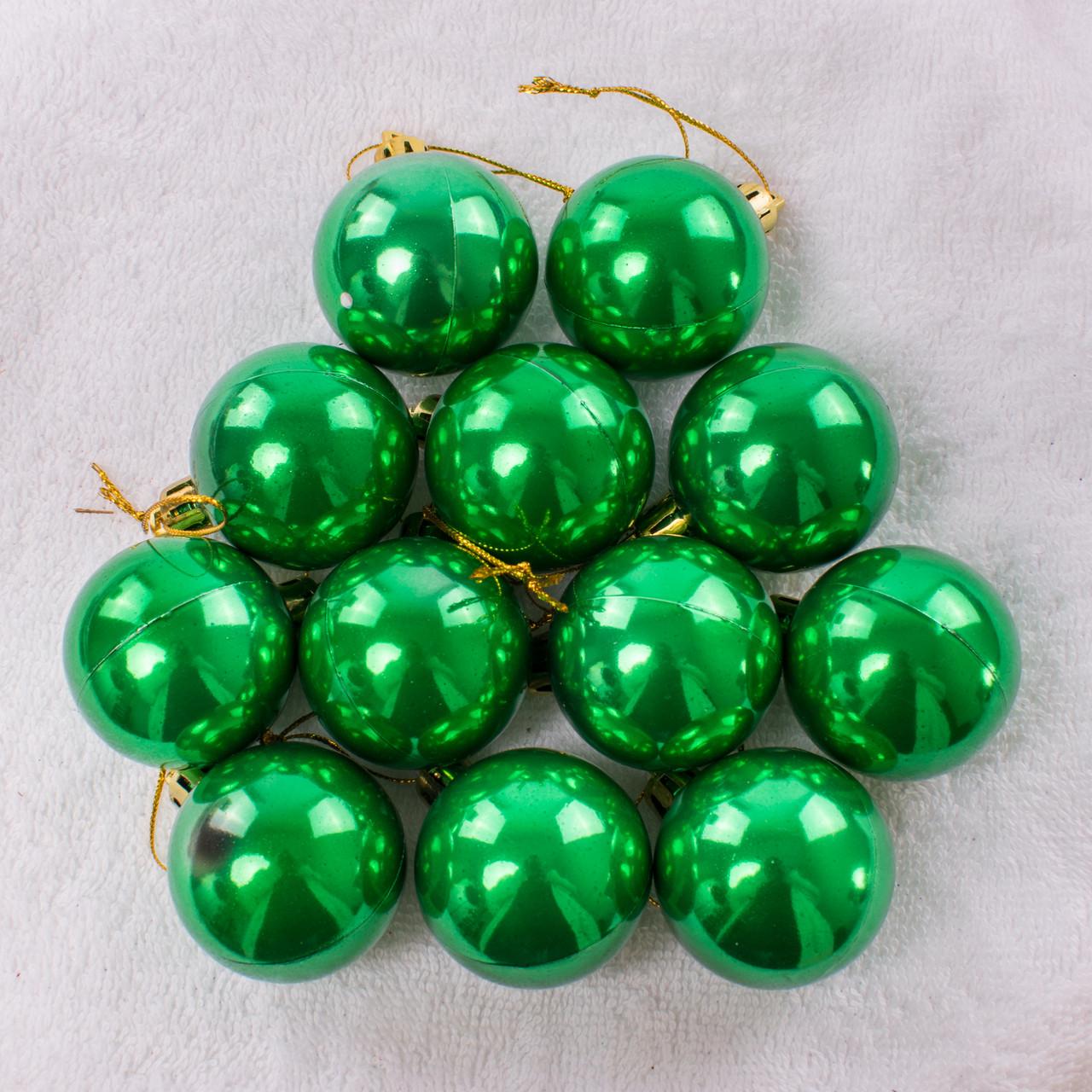 Набор новогодних шариков 125. В упаковке 12 шариков.  Диаметр 40 мм.