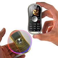 Сервопривод S08 1.3 дюймов 300mAh Bluetooth Двойной SIM Вращающийся пальцевой Спиннер Gyro Телефон для уменьшения стресса 1TopShop