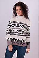 Теплый вязанный зимний свитер