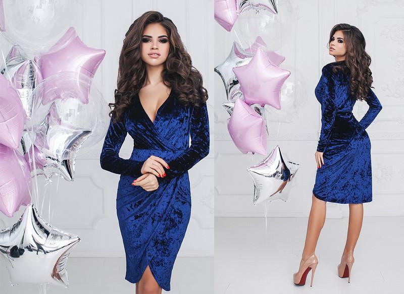 Женское велюровое платье  +цвета