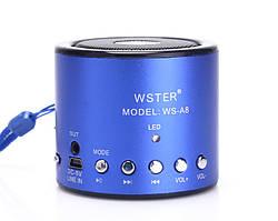 Портативная колонка WSTER WS-A8 (MP3 плеер, FM радио)