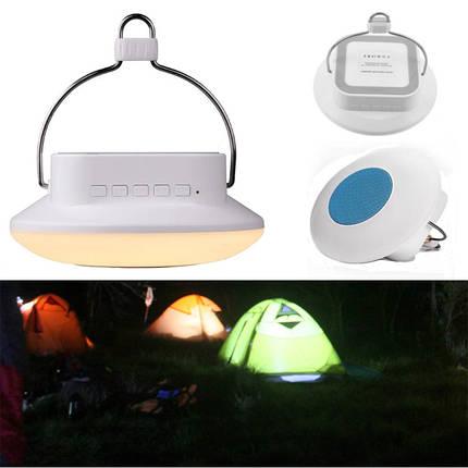 НаоткрытомвоздухеLEDПодвескаКемпинг Многофункциональный фонарь для палатки с FM Радио Bluetooth Динамик, фото 2
