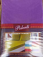 Махровые простыни на резинке с наволочками 70*70. Фиолетовый.