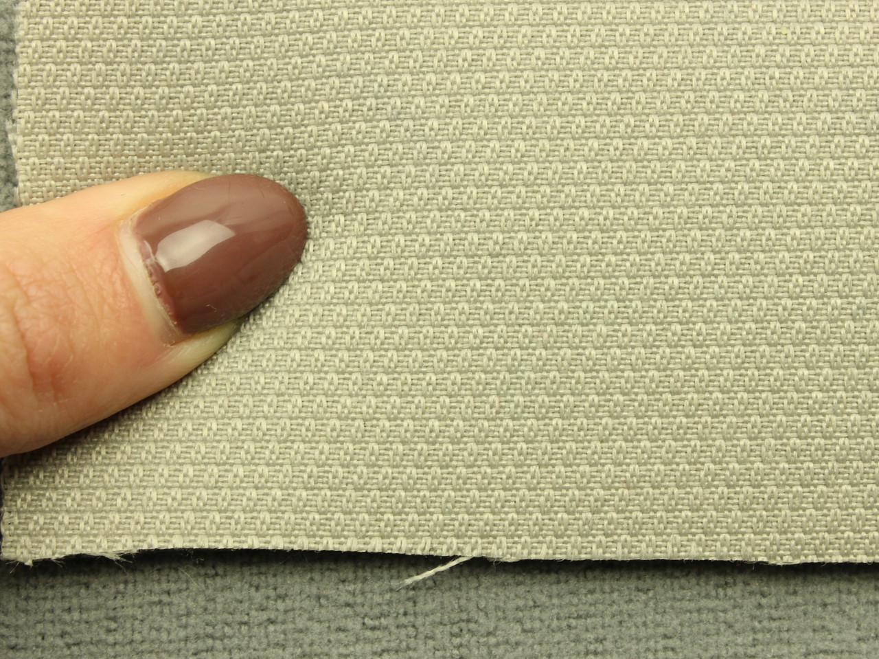 Ткань для сидений автомобиля, цвет светло-серый, на поролоне (для боковой части) Германия