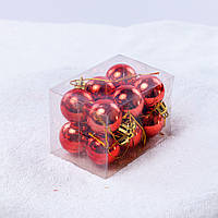 Набор новогодних шариков 602. В упаковке 12 шариков.  Диаметр 25 мм.
