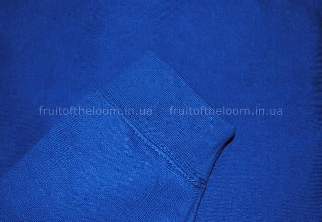 Ярко-синяя мужская премиум толстовка с капюшоном на замке