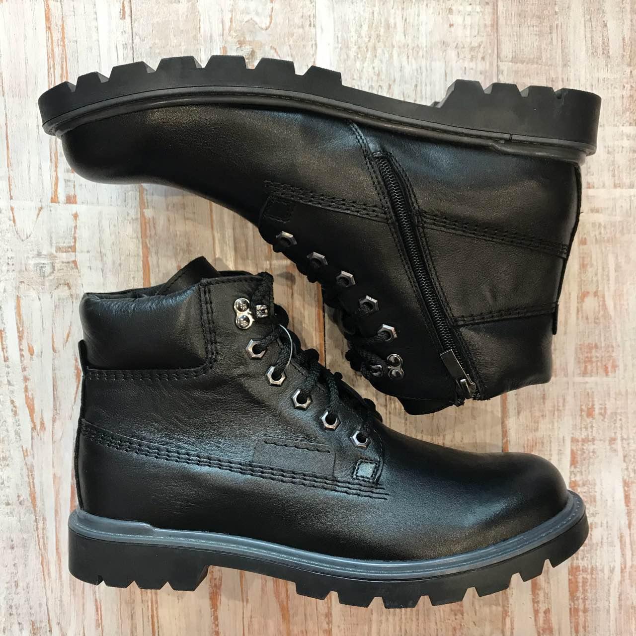 Кожаные зимние ботинки 40 c34f7854072ba
