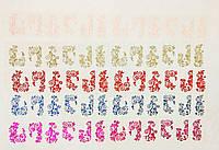 Наклейки для дизайна ногтей (цвет на выбор:Фуксия,Синий,Красный,Серебро,Нежно розовый)