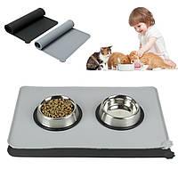 Водонепроницаемы Anti-Slip Силиконовый Pet Собака Puppy Feeding Mat Bowl Pad Food Placemat
