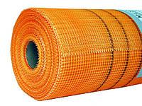 Сетка штукатурная Fasad Plus 5х5 мм наружная щелочестойкая суперкрепкая 160 г/м.кв 50 м оранжевая