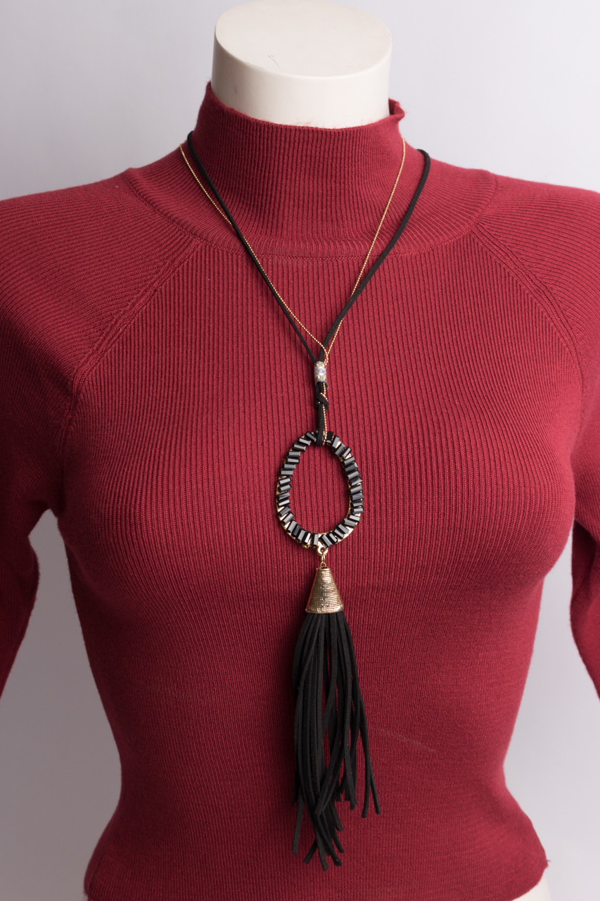 Бижутерия женская TOXIK BIJU 12760 BLACK-GOLD SHNYROCHKI