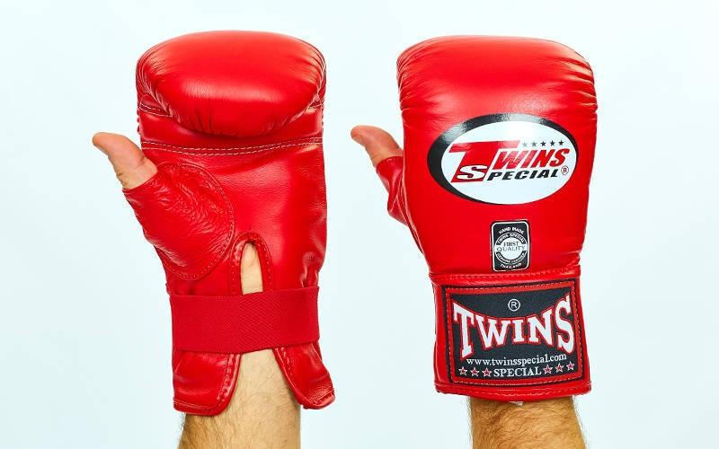 Снарядні рукавички шкіряні TWINS TBGL-1H-RD-L