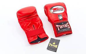 Снарядні рукавички шкіряні TWINS TBGL-1H-RD-L, фото 3