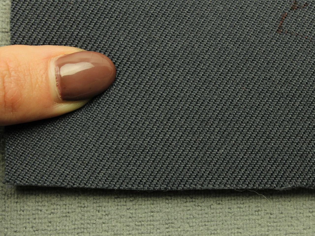 Ткань для сидений автомобиля, цвет темно синий, на поролоне (для боковой части) Германия