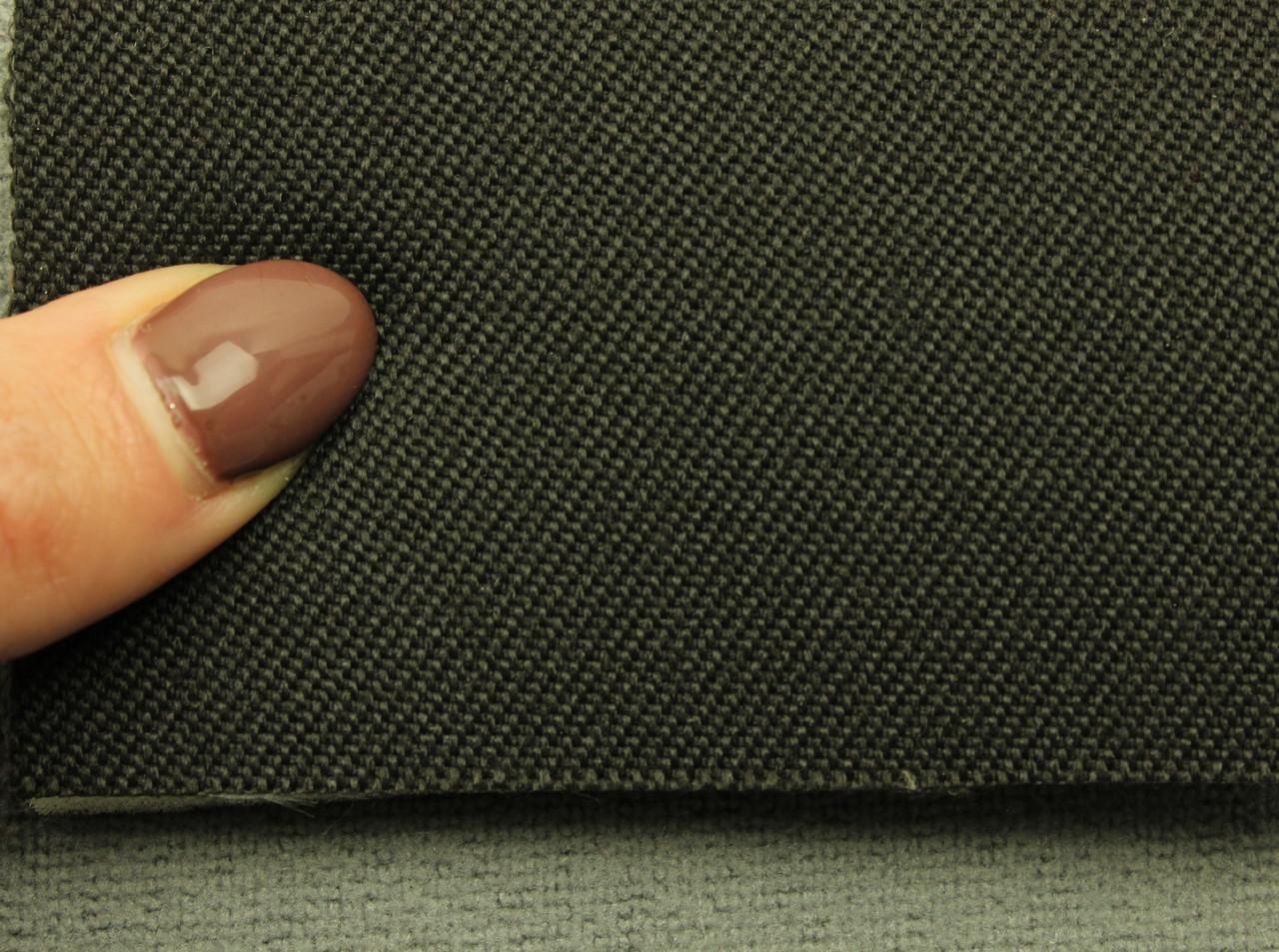 Ткань для сидений автомобиля, цвет черный, на поролоне (для боковой части) Германия