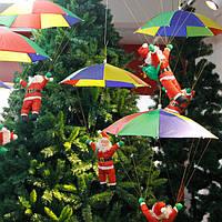 Рождественские парашютные украшения подвесного Санта-Клауса Рождественское делево Новогодняя елка для новогодних украшений