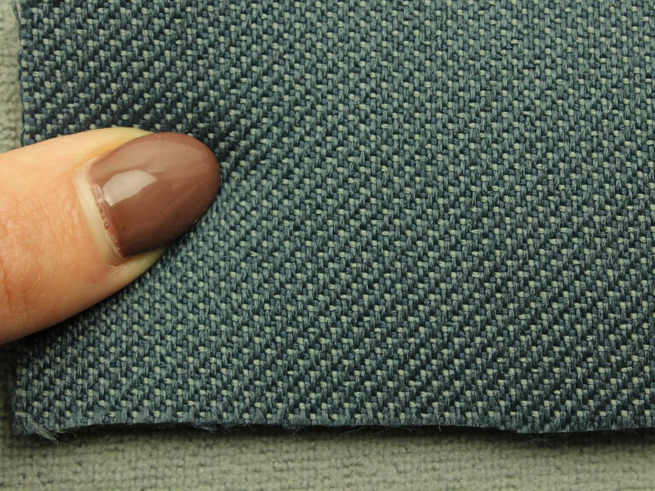 Ткань для сидений автомобиля, цвет темно-синий, на поролоне (для боковой части) Германия