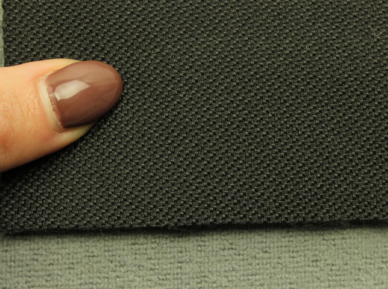 Ткань для сидений автомобиля, цвет черный, на войлоке (для боковой части) Германия